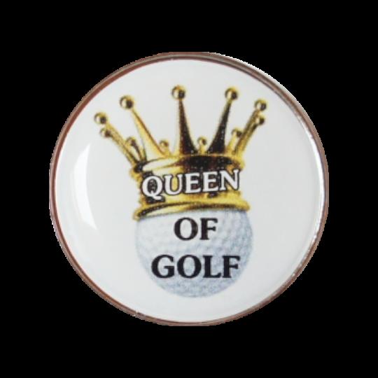 Golfball-Marker QUEEN OF GOLF