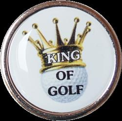 "Cap-Clip ""Fade"" mit Golfball Marker Queen bzw. King of Golf"