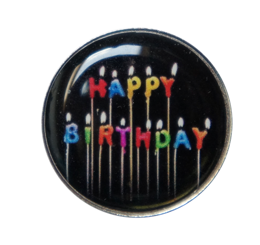 Golfball-Marker HAPPY BIRTHDAY 1