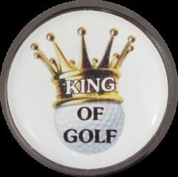"""Schuhclip """"Chip"""" in metallic-schwarz mit Golfball Marker """"MOTIV"""""""