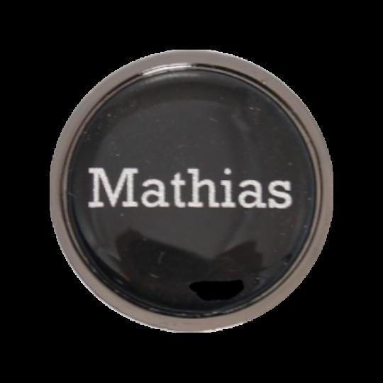 Ballmarker metallic-schwarz mit Vornamen