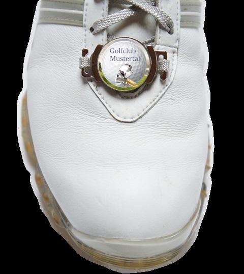 """Schuhclip """"Pitch"""" + Marker mit Golfclub-Logo"""