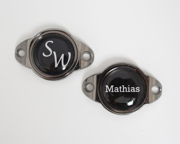 """Schuhclip """"CHIP"""" + Marker mit INITIALEN oder VORNAMEN"""