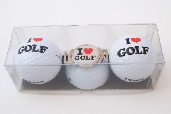 "Golfball-Set ""I LOVE GOLF 2"""
