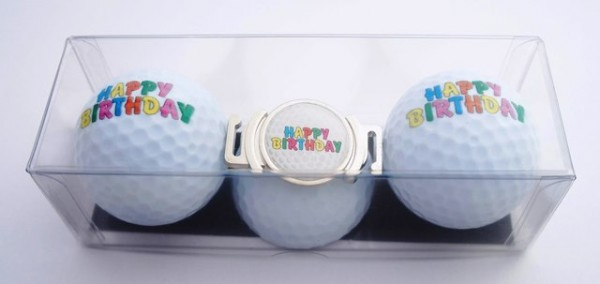 "Golfball-Set ""HAPPY BIRTHDAY 4"""