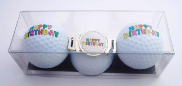 "Golfball-Set ""HAPPY BIRTHDAY 4"""