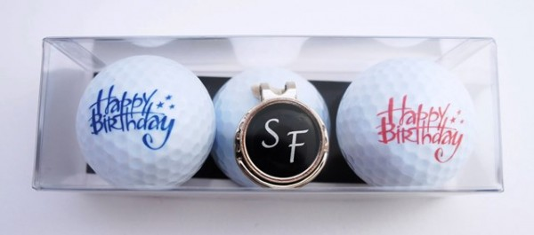 "Golfball-Set ""HAPPY BIRTHDAY 3"""
