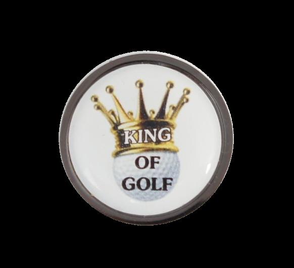 """Cap-Clip """"Draw"""" in metallic-schwarz mit Golfball Marker """"MOTIV"""""""