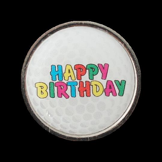 Golfball-Marker HAPPY BIRTHDAY 2