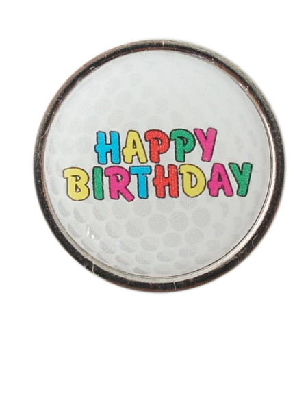 Golfball-Marker HAPPY BIRTHDAY 2