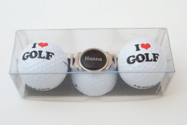 "Golfball-Set ""I LOVE GOLF 1"""