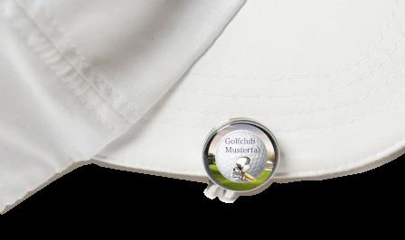 "Cap-Clip ""Slice"" inkl. Marker mit Golfclub-Logo"