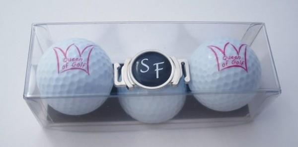 """Golfball-Set """"QUEEN OF GOLF 3"""""""