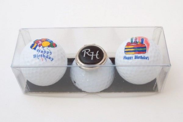 "Golfball-Set ""HAPPY BIRTHDAY 1"""