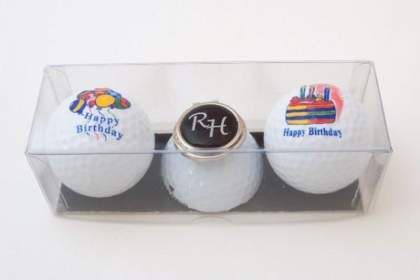 "Golfball-Set ""HAPPY BIRTHDAY 1"""